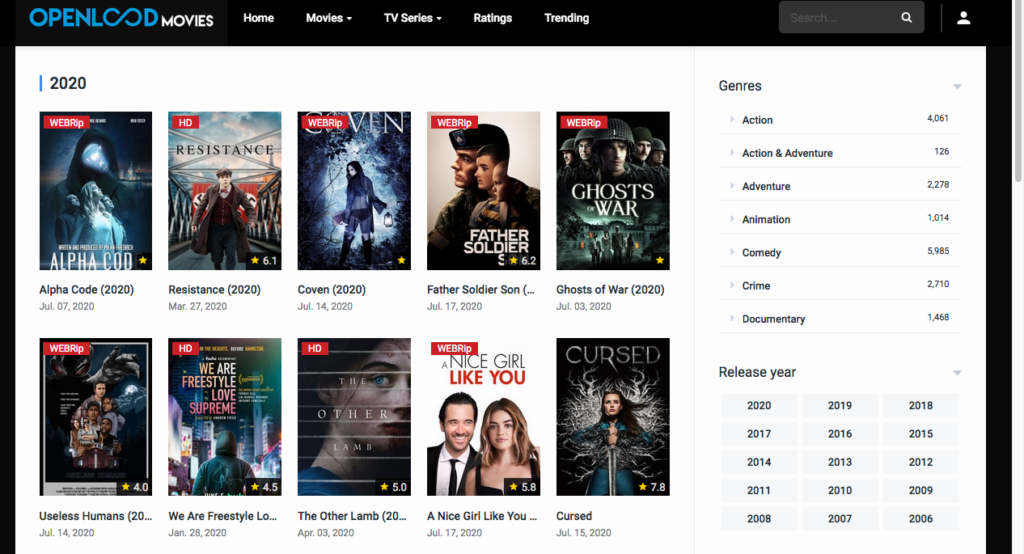 Openload Movies - sites like YesMovies