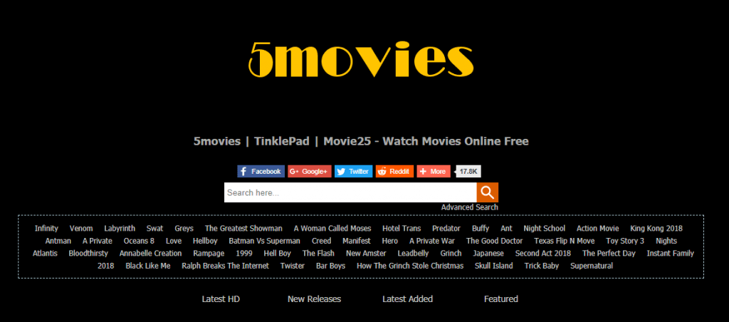 Photo of 15 5Movies Alternative Sites to Watch Movies and TV Shows Online Free