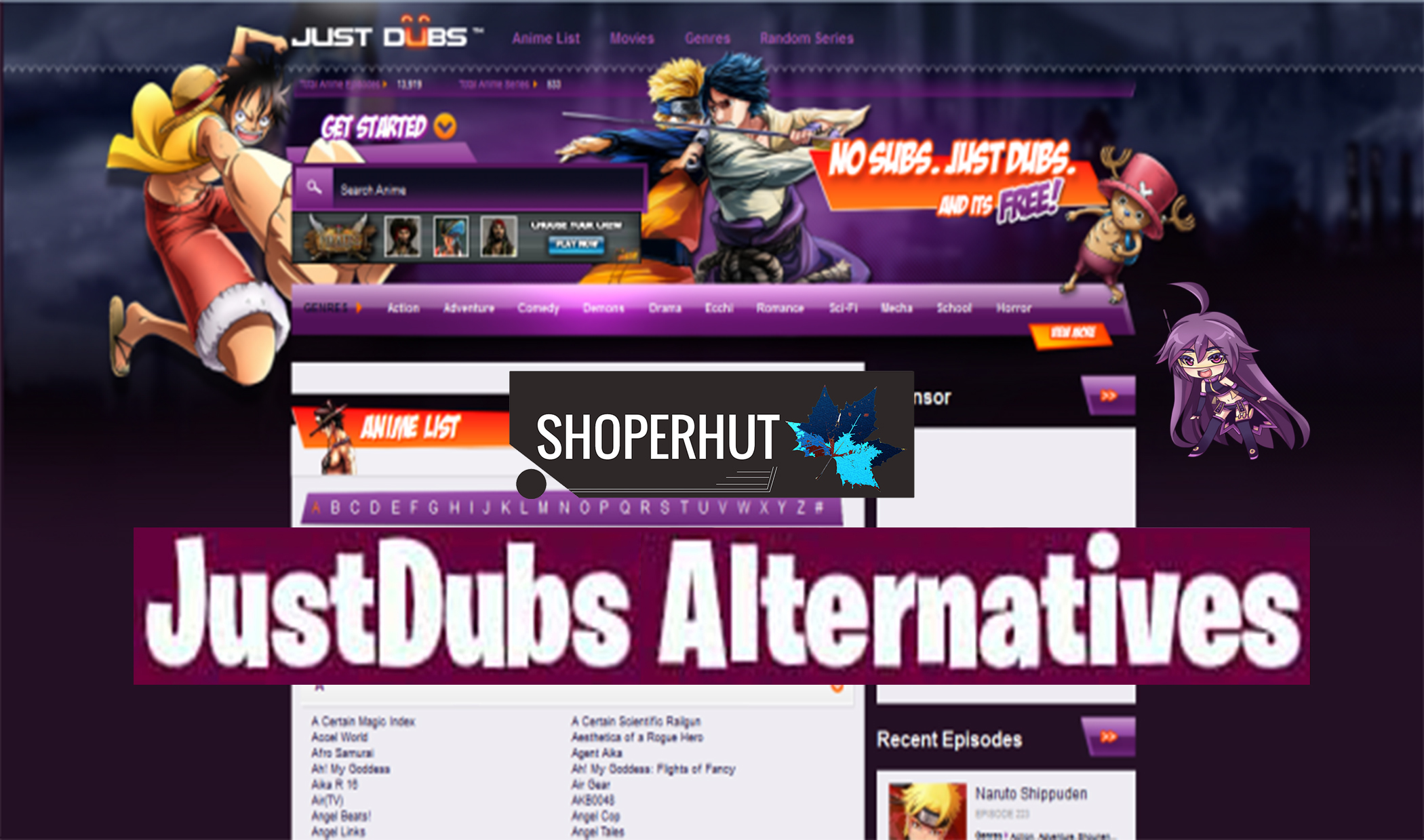 Photo of Top 12 Justdubs Anime Online Alternative Sites The Watch Free Animes